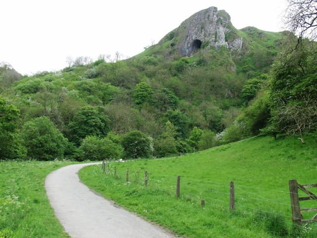 Thors cave from the path