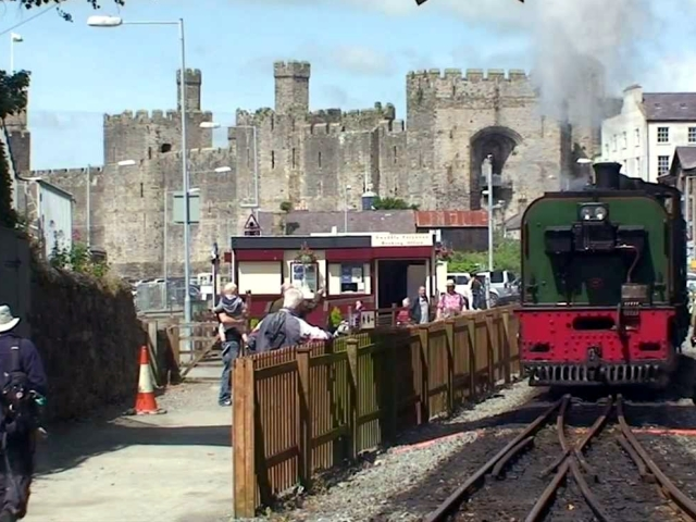 Caernarfon castle in the background