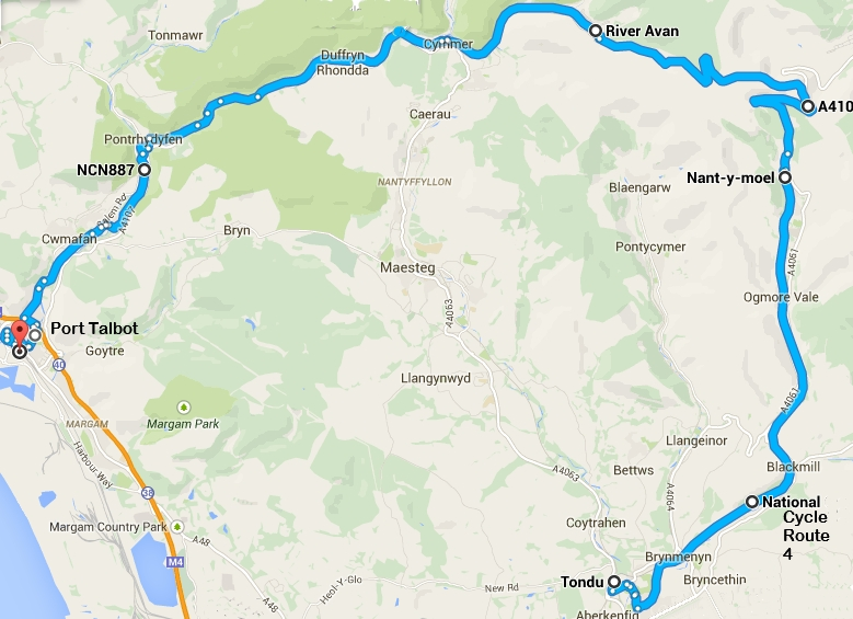Ogmore-vale, Bwlch mountain, Afan Valley (30 miles)