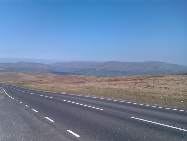 The road along the top of Llangynidr mountain