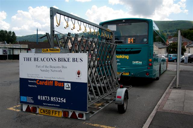 The Brecon bike bus